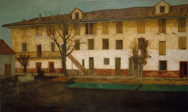 David  Strachan (1919-1970) The silkworm factory 1959
