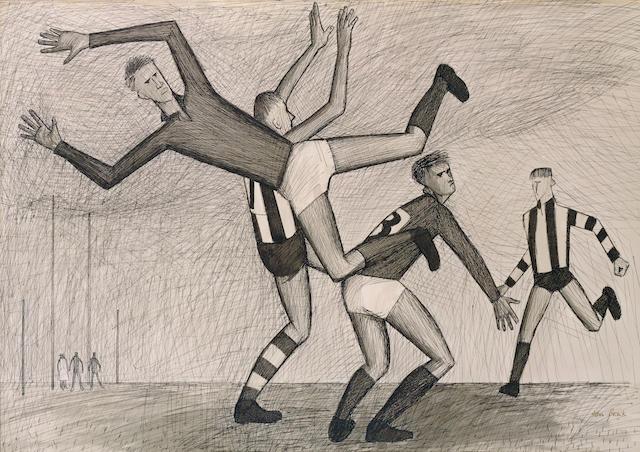 John Brack (1920-1999) Footballers 1956