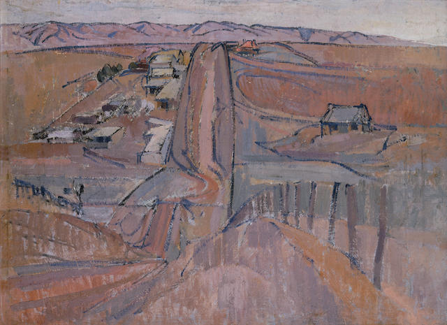 Horace Trenerry (1899-1958) Road, Aldinga Hill c.1940