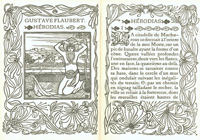 ERAGNY PRESS - FLAUBERT (GUSTAVE) Hérodius, 1901