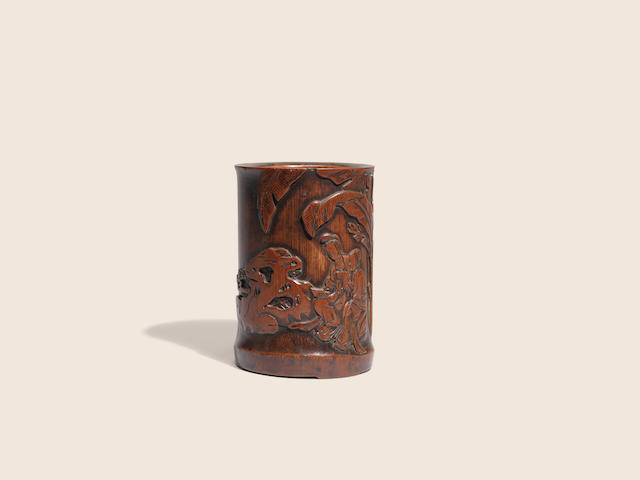 A bamboo brushpot Early Qing dynasty