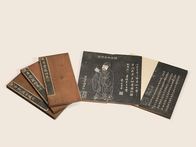 Five albums of ink rubbings Yongzheng period, dated 1728