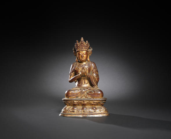 A gilt and lacquered Guanyin Ming dynasty