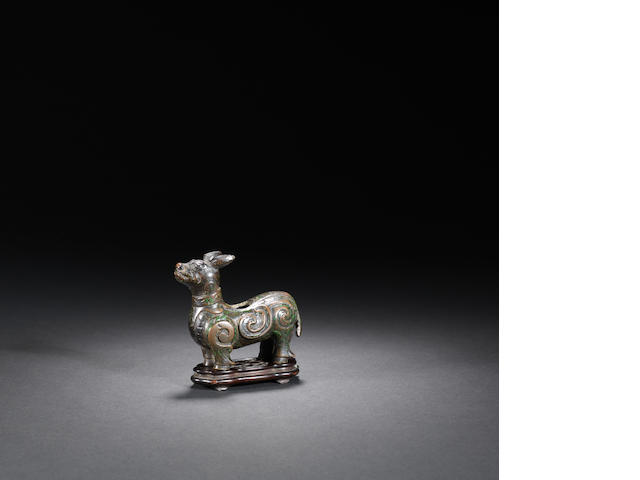 A rare bronze tapir stand Song to Ming dynasty
