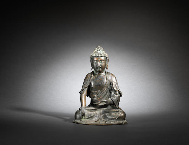 A bronze seated figure of Shakyamuni Ming dynasty