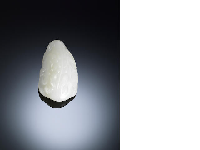 A white jade toad Early Qing dynasty