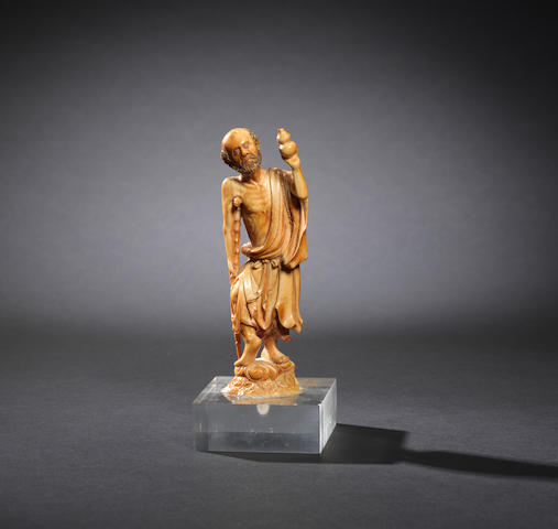 A carved ivory figure of Li Tieguai Late Ming dynasty