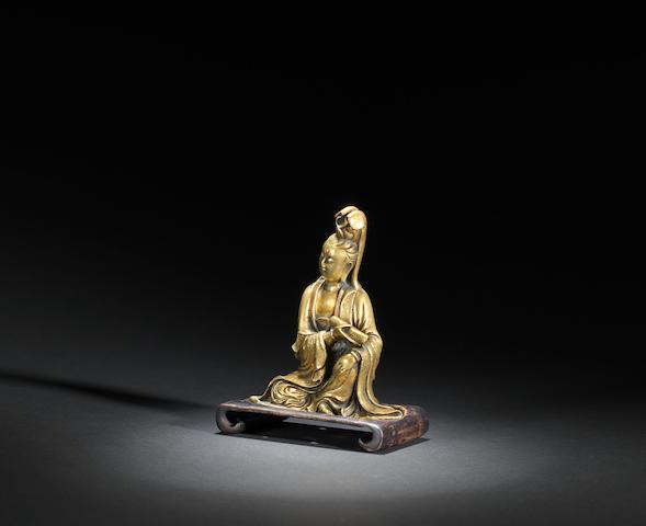 A gilt-bronze Guanyin Ming dynasty