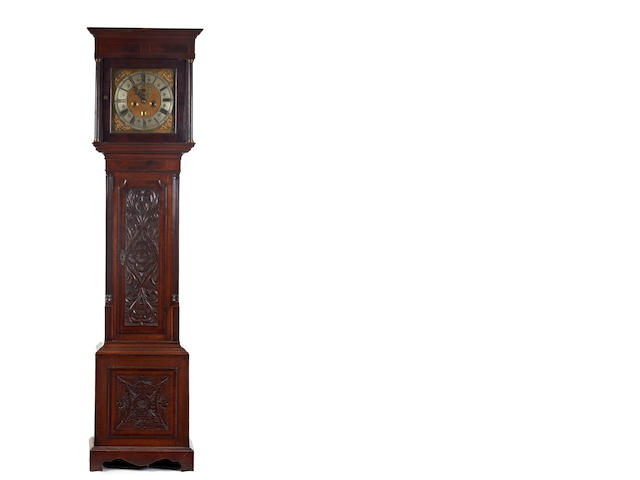 An 18th century oak and mahogany 8 day longcase clock Dan LeCount, London CC1676-1705