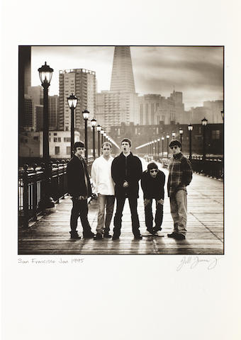 Oasis - limted edition 19 Jill Furmanovsky prints of the band