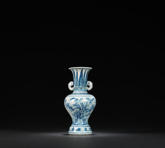 A rare blue and white 'three friends of winter' vase Zhengtong / Chenghua