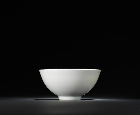A white-glazed incised 'floral' bowl Yongle