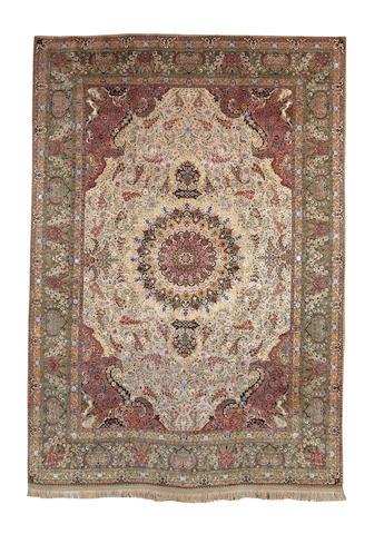 A large Tabriz carpet, North West Persia, 494cm x 350cm