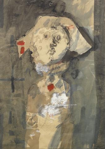 Antoni Clavé  (Spanish, 1913-2005) Petit Arlequin au Chat