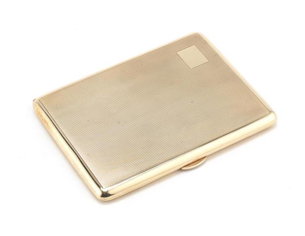 A 9 carat gold cigarette case Birmingham 1946