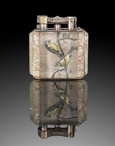 DUNHILL: An extremely rare large 'Aviary' lighter