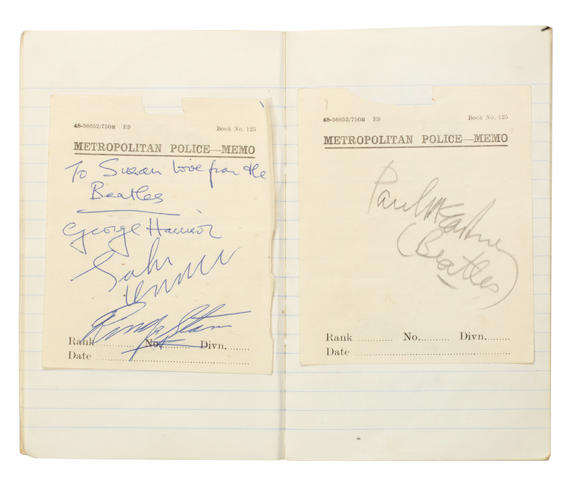 The Beatles and the Rolling Stones: a collection of autographs, 1960s,