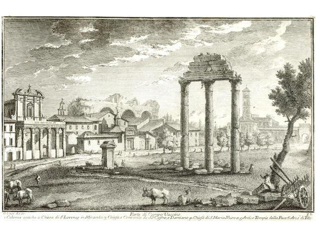 VASI (GIUSEPPE AGOSTINO) Raccolta delle più belle vedute antiche, et moderne di Roma, 2 vol. in one, 1803