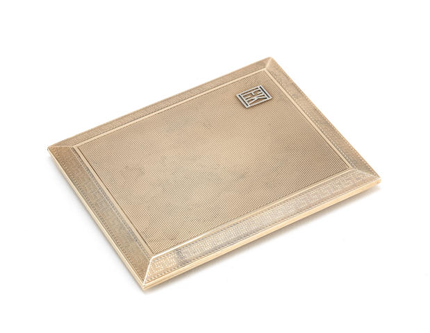 A 9 carat gold cigarette case by Asprey & Co Ltd, London 1924