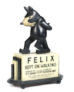 Felix The Cat: A rare 'Felix Kept on Walking' advertising display, circa 1923,