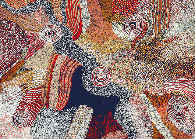 Bill Whisky Tjapaltjarri (circa 1920-2008) Country and rockholes 2006