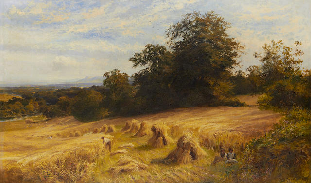 Walter Wallor Caffyn (British, 1845-1898) Harvest time