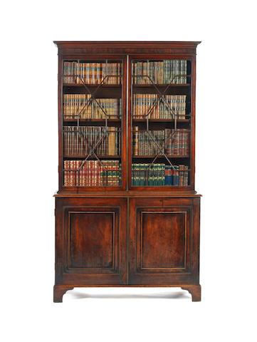 A George III mahogany bookcase cabinet