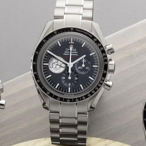 Omega. A stainless steel manual wind chronograph bracelet watch Speedmaster Professional Moonwatch Apollo II 40th Anniversary, 4621/7969, Case No.77224032, Sold 10th August 2009