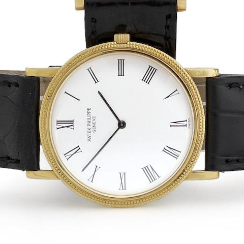 Patek Philippe. An 18ct gold manual wind wristwatch Ref:3520, Case No.2747358, Movement No.1176601, Circa 1962