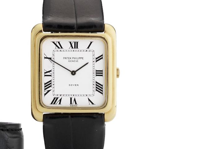 Patek Philippe. An 18ct gold manual wind wristwatch Retailed by Beyer, Ref:4269, Case No.2764521, Movement No.1277645, Circa 1970