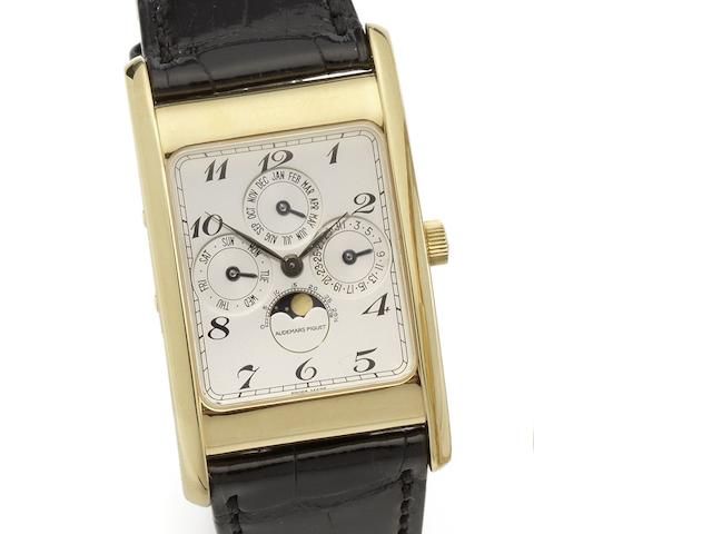 Audemars Piguet. An 18ct gold manual wind perpetual calendar wristwatch Quantieme Perpetuel, Ref:C89316, Case No.147, Movement No.339417, Circa 1995