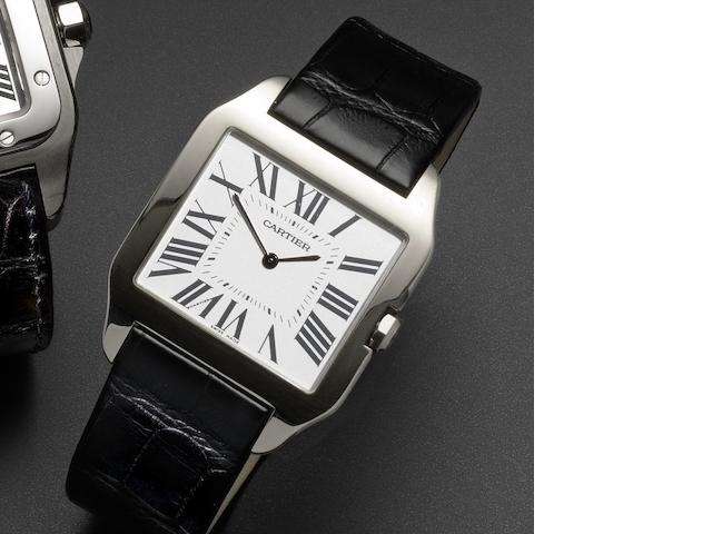 Cartier. An 18ct white gold manual wind wristwatch Santos Dupont, Ref:2651, Case No.369300CE, Circa 2005