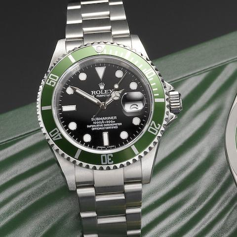 Rolex. A stainless steel automatic calendar bracelet watch Submariner, Ref:16610T, Serial No.M447***, Movement No.31915598, Circa 2007