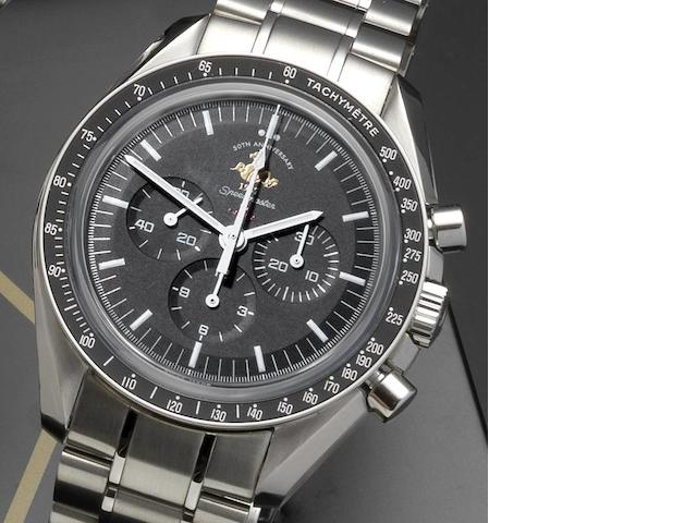 Omega. A limited edition stainless steel manual wind chronograph wristwatch Speedmaster Professional 1957 50th Anniversary, 1926/5957, Ref:145.0301, Case and Movement No.77188903, Sold 10th August 2009