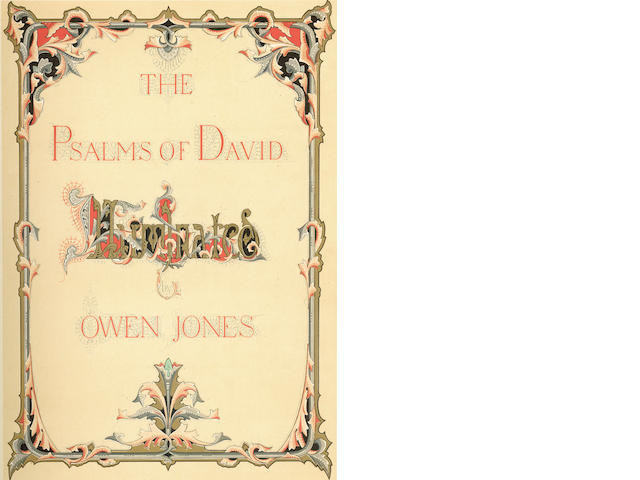JONES (OWEN) The Psalms of David. Illuminated by Owen Jones, fine binding, 1862