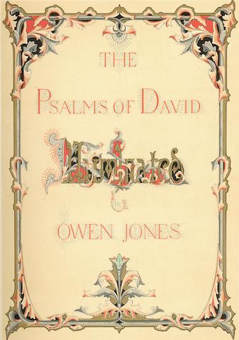 JONES (OWEN) The Psalms of David. Illuminated by Owen Jones, fine binding, 1862