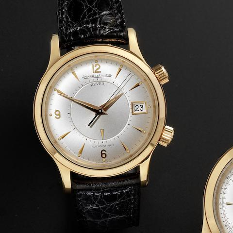 Jaeger-LeCoultre. A fine 18ct rose gold automatic alarm calendar wristwatch together with fitted box and guarantee papersMaster Control, Ref:141.2.97, Sold 30th September 1995