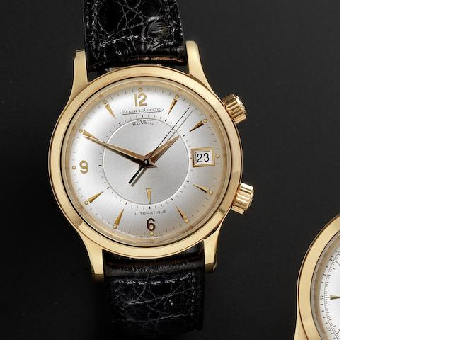 Jaeger-LeCoultre. A fine 18ct rose gold automatic alarm calendar wristwatch together with fitted box and guarantee papers Master Control, Ref:141.2.97, Sold 30th September 1995