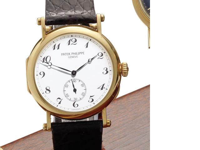 Patek Philippe. An 18ct gold manual wind wristwatch 'Anniversary Edition,' Ref:3960, Case No.2862637, Movement No.767725, Sold 25th October 1989