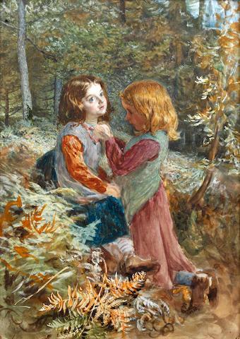 John Dawson Watson (British, 1832-1892) 'Emma and Martine'