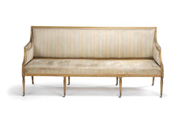 A George III giltwood sofa