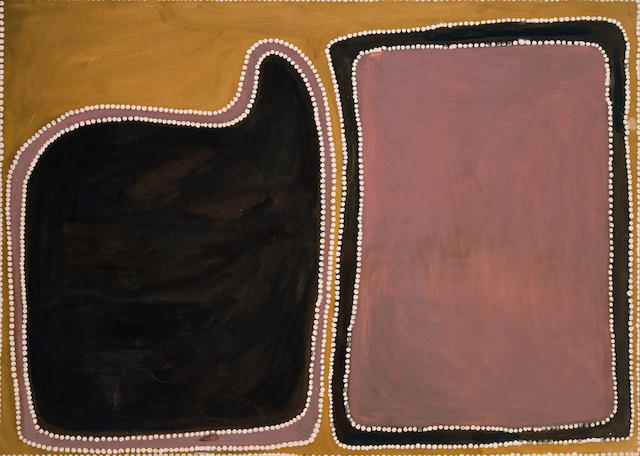 Rover Thomas (c. 1926-1998) Dreamtime travels of two men 1989