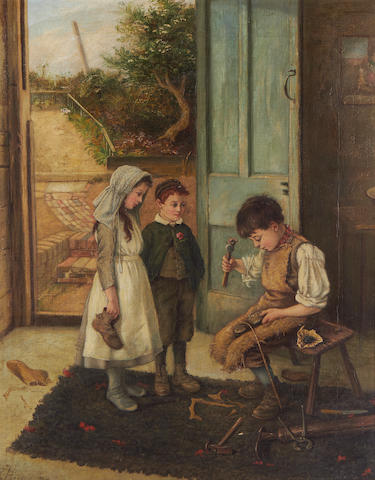 Reuben Hunt (British, 1879-1962) The young cobbler