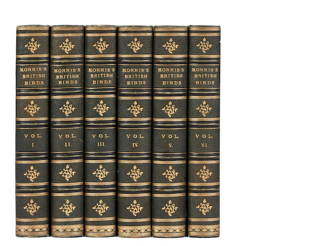 MORRIS (FRANCIS ORPEN) A History of British Birds, 6 vol., 1870