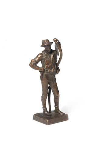 Sir William Hamo Thornycroft, British (1850-1925): A bronze maquette of The Mower