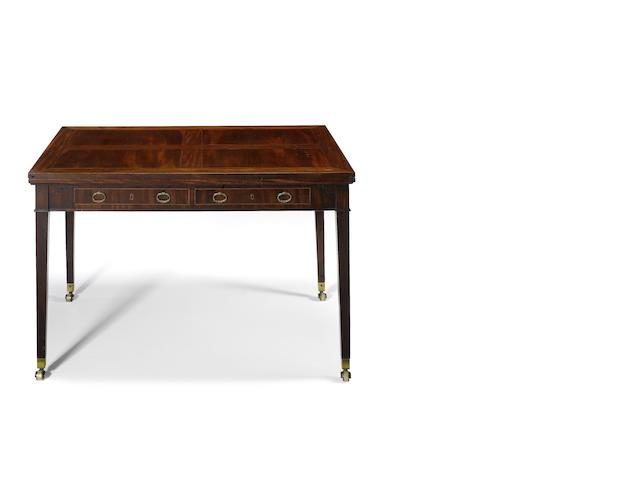 A George III mahogany 'Universal' type library/dining table  after a design by Thomas Sheraton