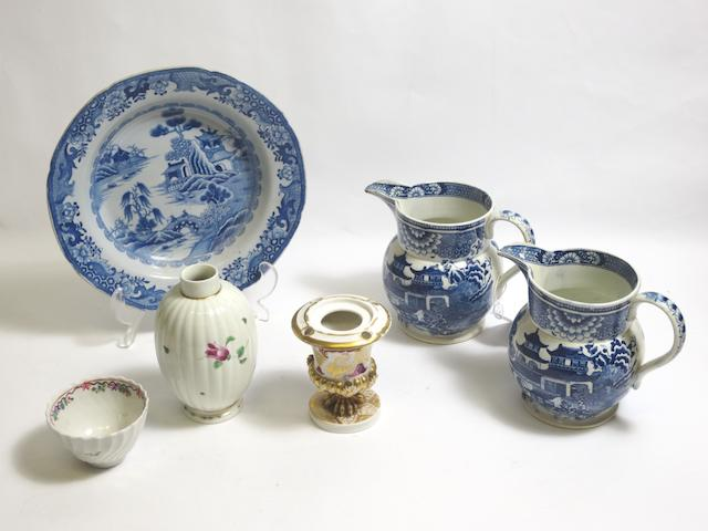 A group of English ceramics 19th century