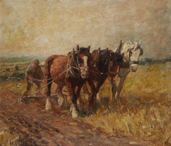 Harry Fidler (British, 1856-1935) The plough team