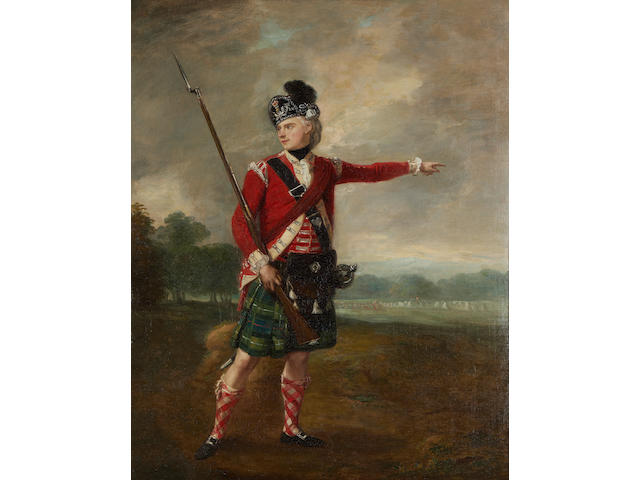 British School, 19th Century Portrait of a Scottish soldier
