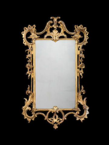 A George III carved giltwood mirror